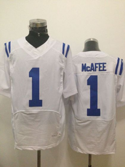 Men Indianapolis Colts 1 Mcafee White Elite Nike NFL Jerseys