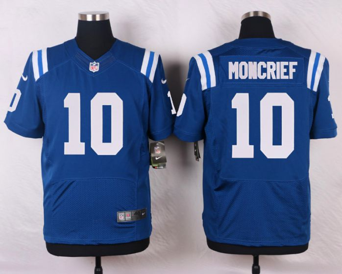 Men Indianapolis Colts 10 Moncrief Blue Elite Nike NFL Jerseys