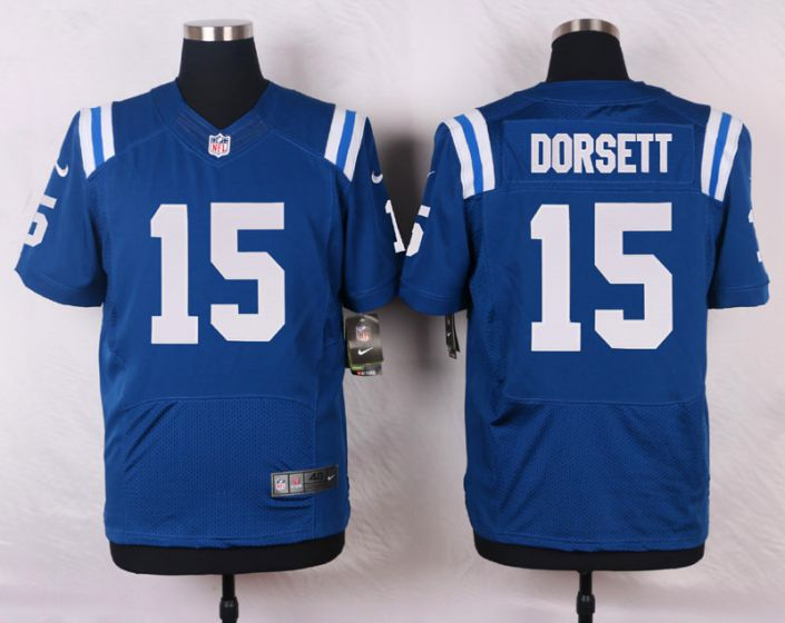 Men Indianapolis Colts 15 Phillip Dorsett Blue Elite Nike NFL Jerseys