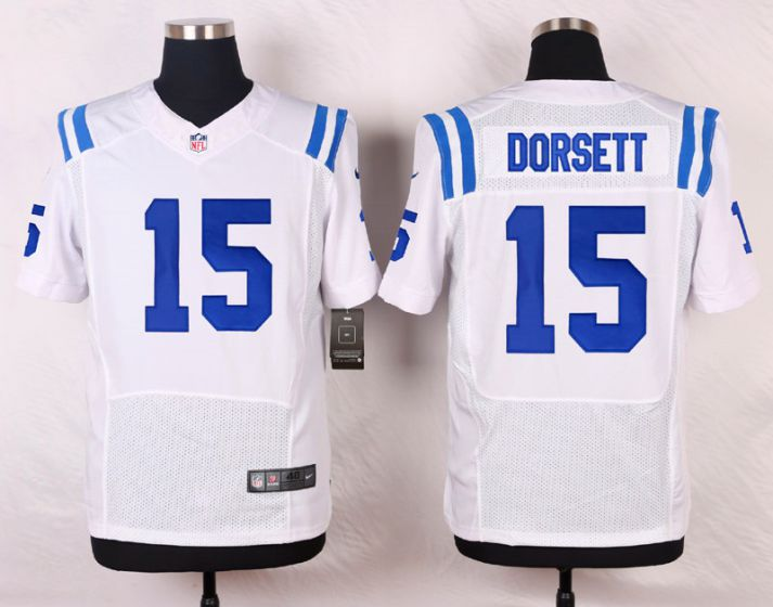 Men Indianapolis Colts 15 Phillip Dorsett White Elite Nike NFL Jerseys