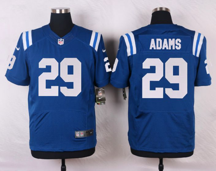Men Indianapolis Colts 29 Mike Adams Blue Elite Nike NFL Jerseys