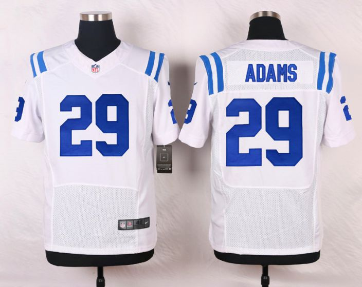 Men Indianapolis Colts 29 Mike Adams White Elite Nike NFL Jerseys