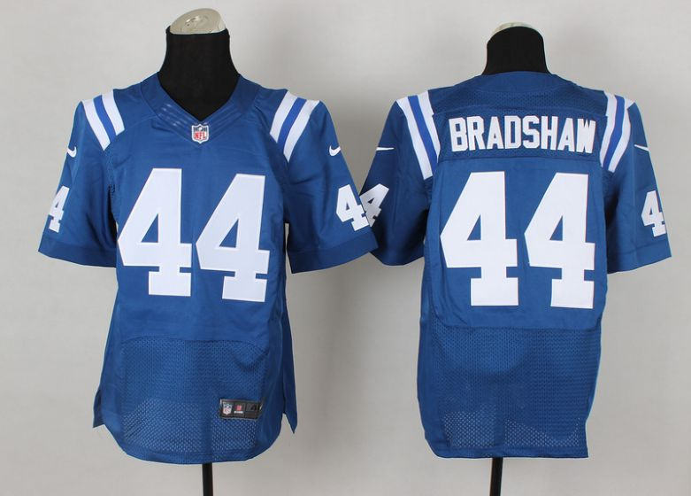 Men Indianapolis Colts 44 Bradshaw Blue Elite Nike NFL Jerseys