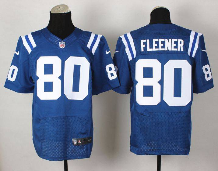 Men Indianapolis Colts 80 Coby Fleener Blue Elite Nike NFL Jerseys