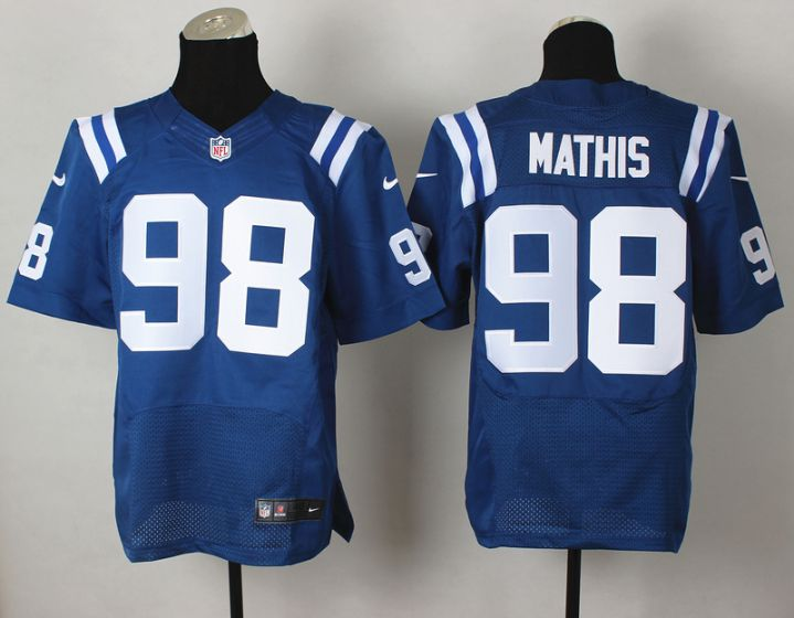 Men Indianapolis Colts 98 Mathis Blue Elite Nike NFL Jerseys