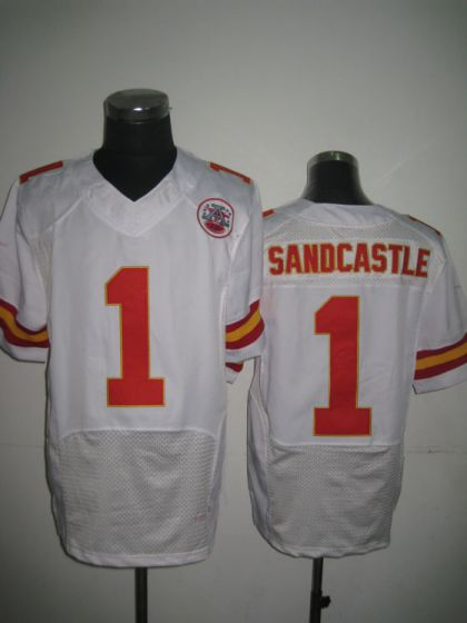 Men Kansas City Chiefs 1 Sandcastle White Elite Nike NFL Jerseys