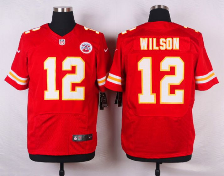 Men Kansas City Chiefs 12 Albert Wilson Red Elite Nike NFL Jerseys