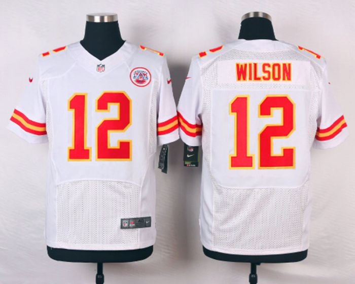 Men Kansas City Chiefs 12 Albert Wilson White Elite Nike NFL Jerseys