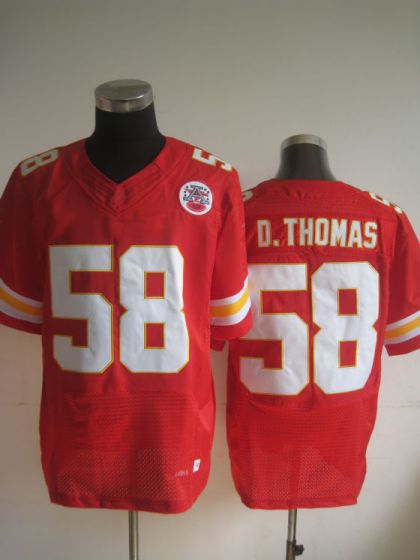 Men Kansas City Chiefs 58 D.Thomas Red Elite Nike NFL Jerseys