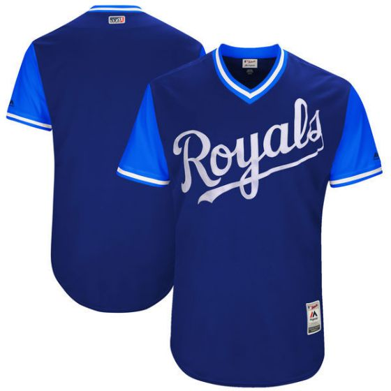 Men Kansas City Royals Blank Blue New Rush Limited MLB Jerseys