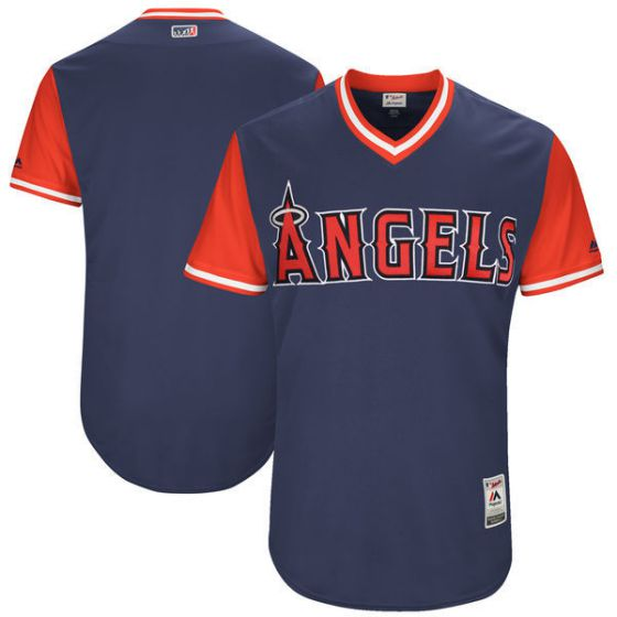 Men Los Angeles Angels Blnak BlueNew Rush Limited MLB Jerseys
