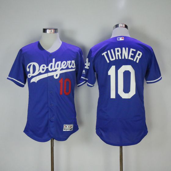 Men Los Angeles Dodgers 10 Justin Turner Blue Elite MLB Jerseys