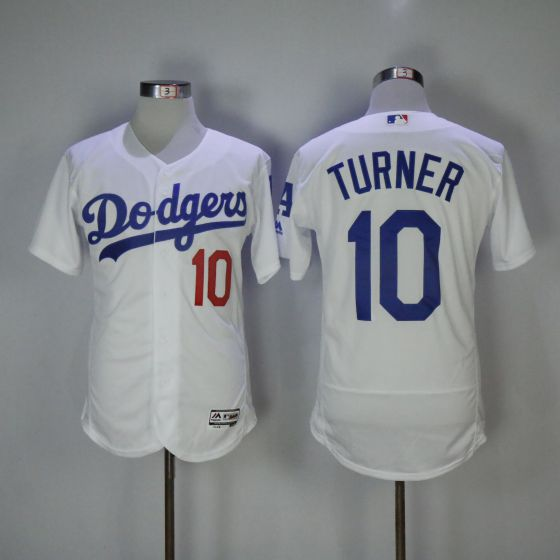 Men Los Angeles Dodgers 10 Justin Turner White Elite MLB Jerseys