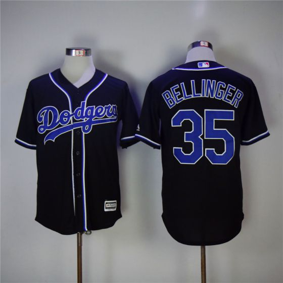 Men Los Angeles Dodgers 35 Cody Bellinger Black Game MLB Jerseys