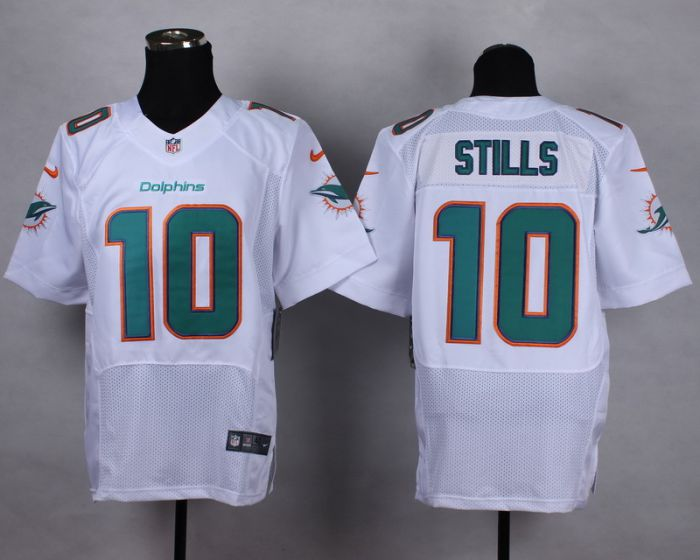 Men Miami Dolphins 10 Kenny Stills White Elite Nike NFL Jerseys