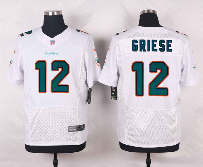 Men Miami Dolphins 12 Bob Griese White Elite Nike NFL Jerseys