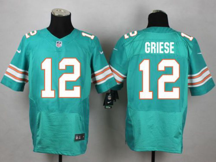 Men Miami Dolphins 12 Griese Green Elite Nike NFL Jerseys