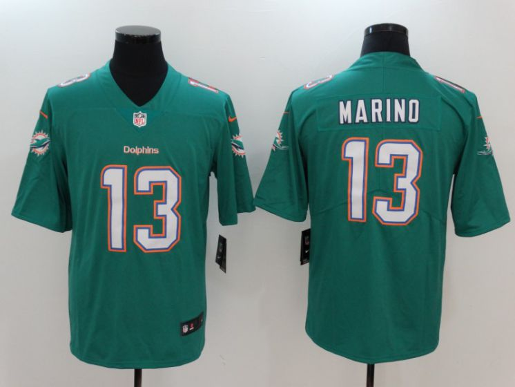 Men Miami Dolphins 13 Marino Green Nike Vapor Untouchable Limited NFL Jerseys
