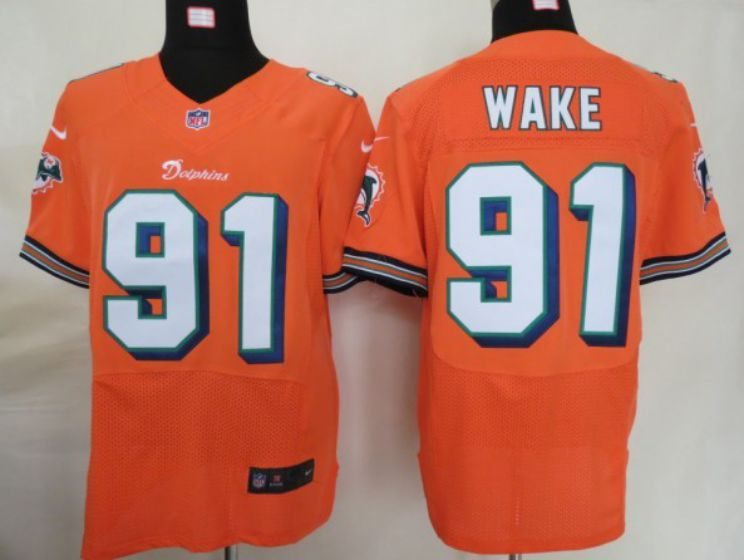 Men Miami Dolphins 91 Wake Oragne Elite Nike NFL Jerseys