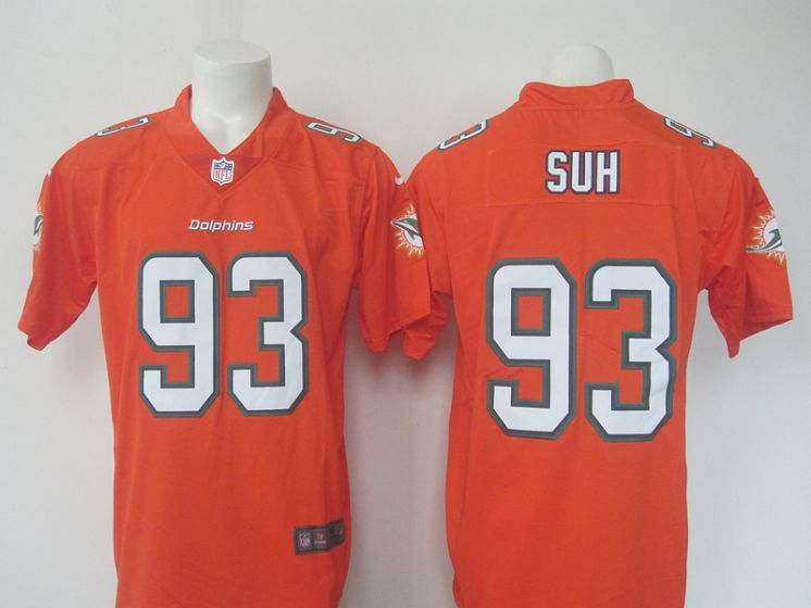 Men Miami Dolphins 93 Suh Oragne Elite Nike NFL Jerseys