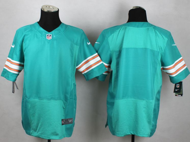 Men Miami Dolphins Blank Green Elite Nike NFL Jerseys