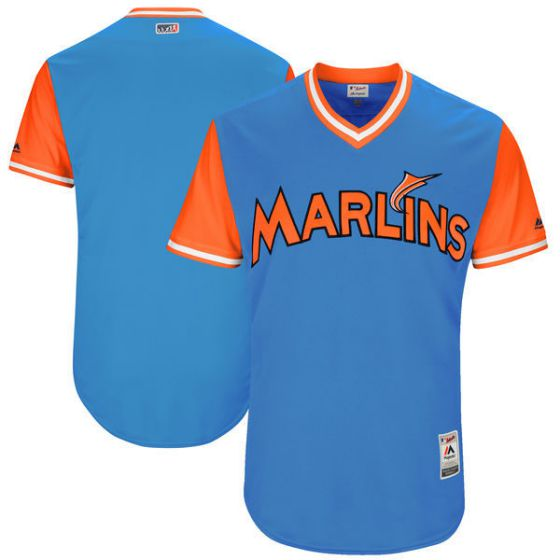 Men Miami Marlins Blank Light Blue New Rush Limited MLB Jerseys