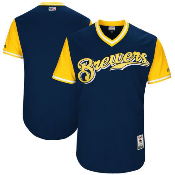 Men Milwaukee Brewers Blank Blue New Rush Limited MLB Jerseys