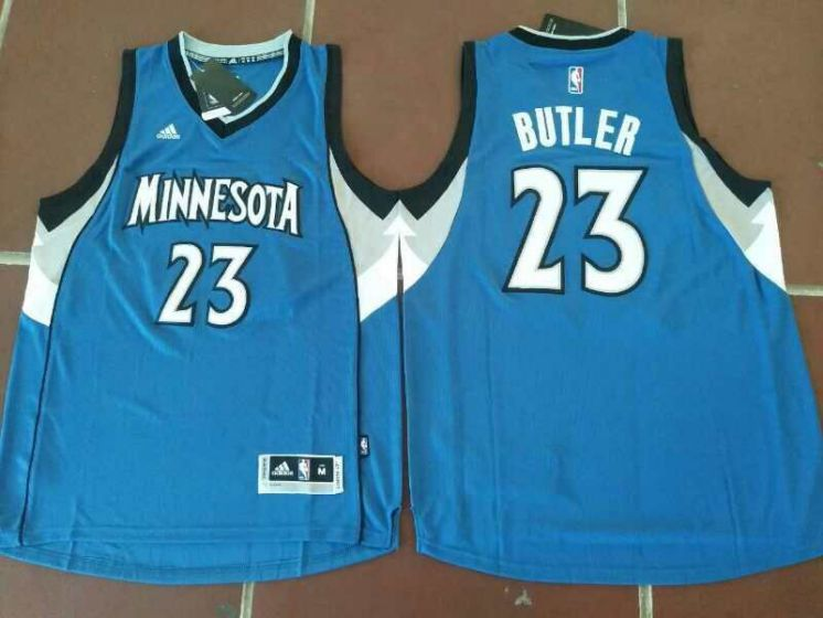 Men Minnesota Timberwolves 23 Jimmy Butler Blue NBA Jerseys