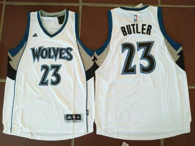 Men Minnesota Timberwolves 23 Jimmy Butler White NBA Jerseys