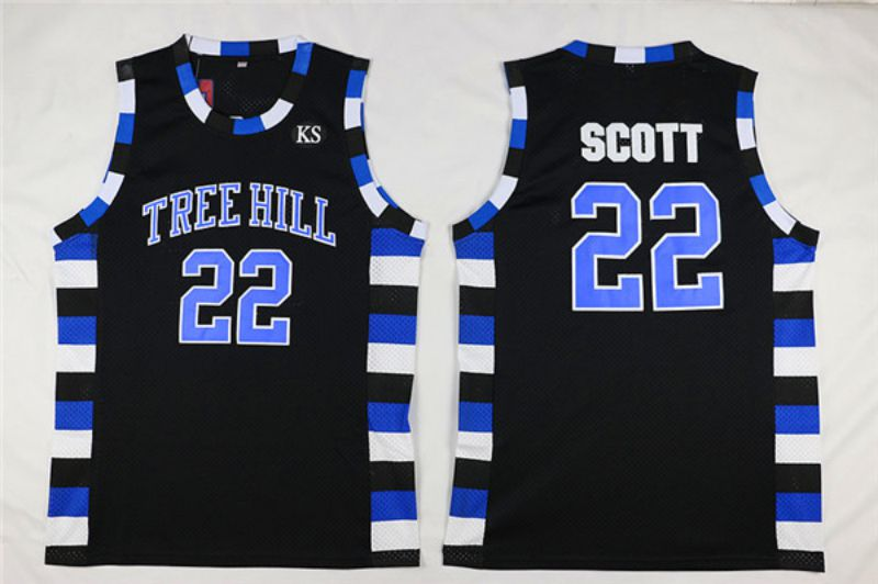 Men Movie basketball brothers 22 Scott Black NBA Jerseys