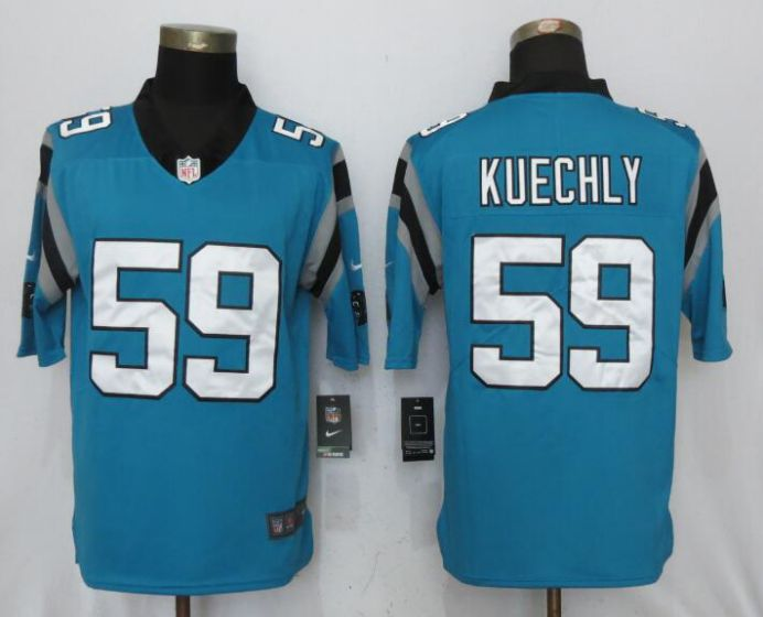 Men NFL Nike Carolina Panthers 59 Kuechly Blue 2017 Vapor Untouchable Limited jersey