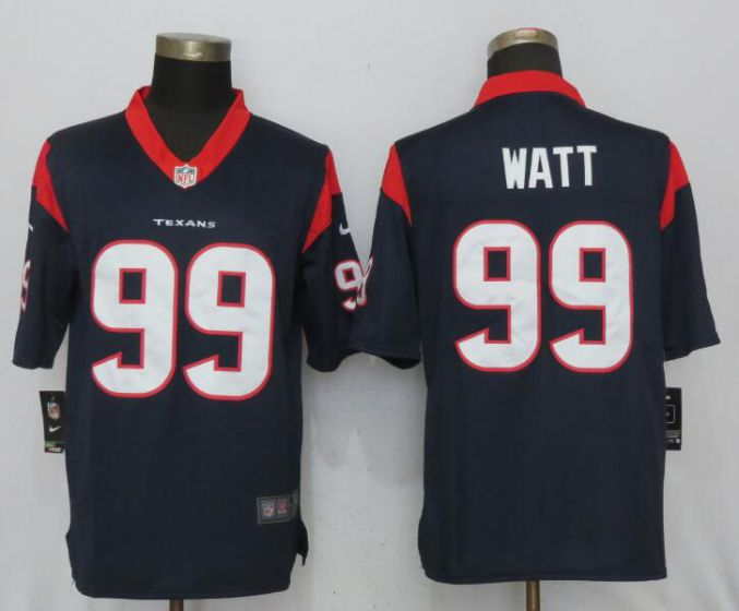 Men NFL Nike Houston Texans Texans 99 Watt Navy Blue 2017 Vapor Untouchable Limited jersey