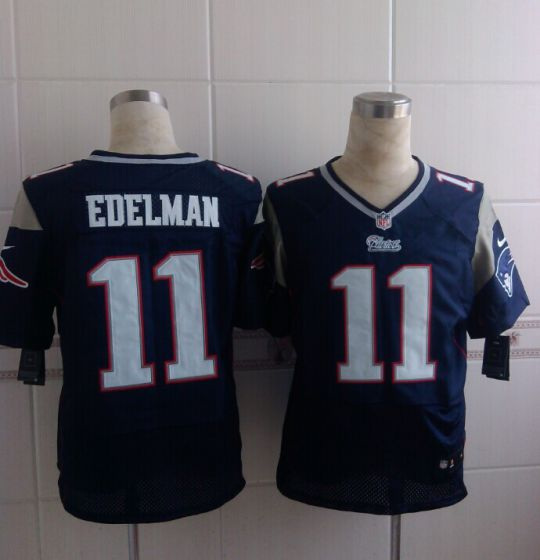 Men New England Patriots 11 Julian Edelman Blue Elite Nike NFL Jerseys