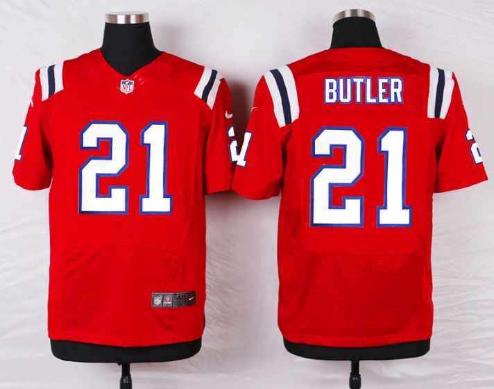 Men New England Patriots 21 Malcolm Butler Red Elite Nike NFL Jerseys
