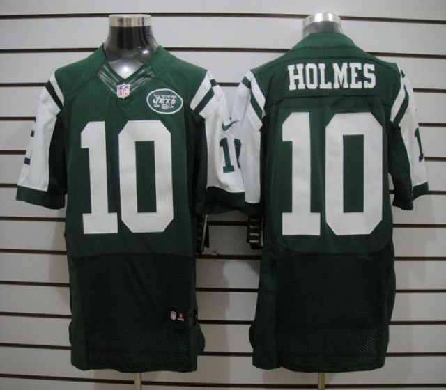 Men New York Jets 10 Holmes Green Elite Nike NFL Jerseys