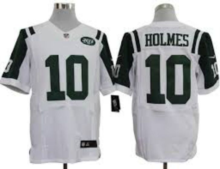 Men New York Jets 10 Holmes White Elite Nike NFL Jerseys