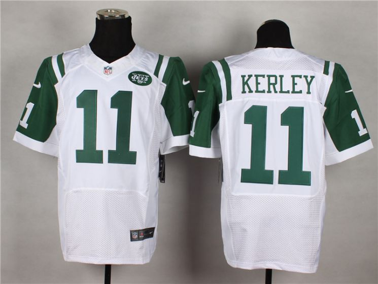 Men New York Jets 11 Jeremy Kerley White Elite Nike NFL Jerseys