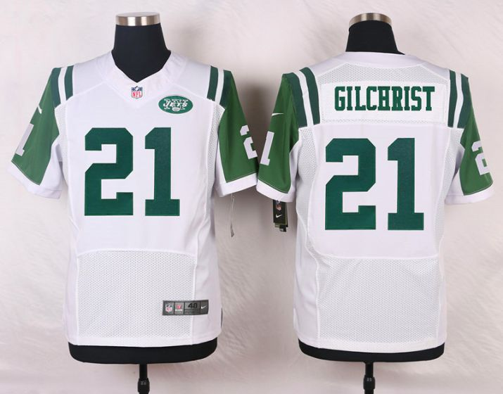 Men New York Jets 21 Marcus Gilchrist White Elite Nike NFL Jerseys