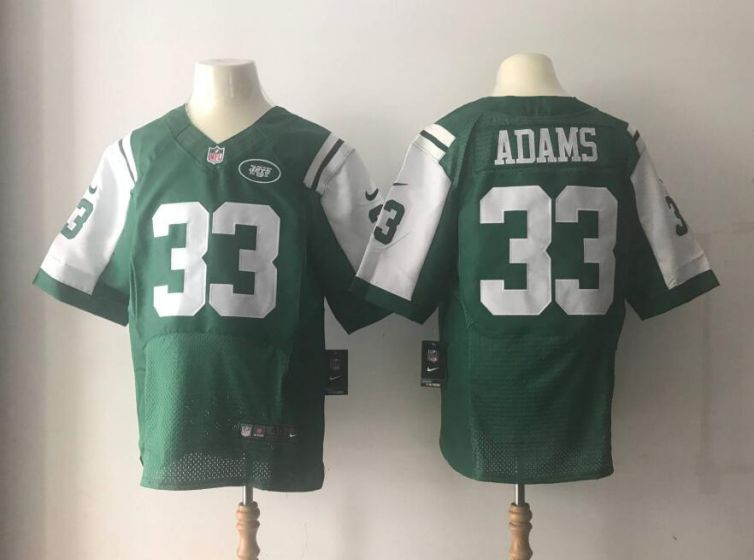Men New York Jets 33 ADAMS Green Elite Nike NFL Jerseys
