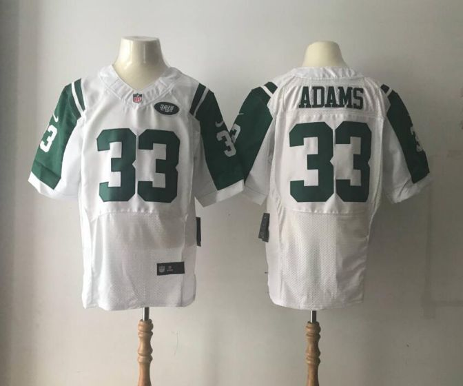 Men New York Jets 33 ADAMS White Elite Nike NFL Jerseys