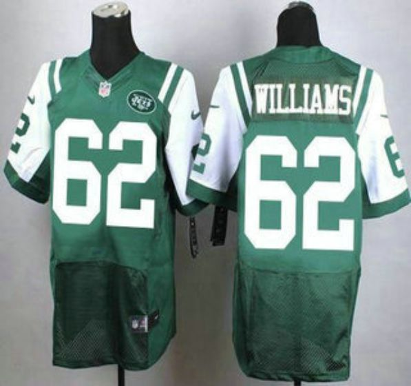 Men New York Jets 62 Williams Green Elite Nike NFL Jerseys
