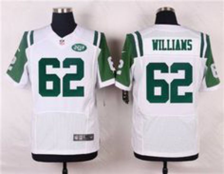 Men New York Jets 62 Williams White Elite Nike NFL Jerseys