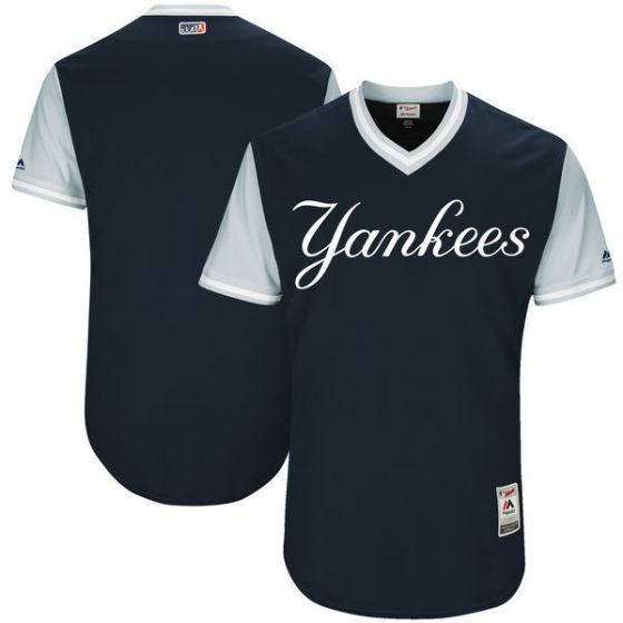 Men New York Yankees Blank Blue New Rush Limited MLB Jerseys