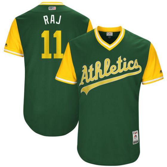 Men Oakland Athletics 11 Raj Green New Rush Limited MLB Jerseys