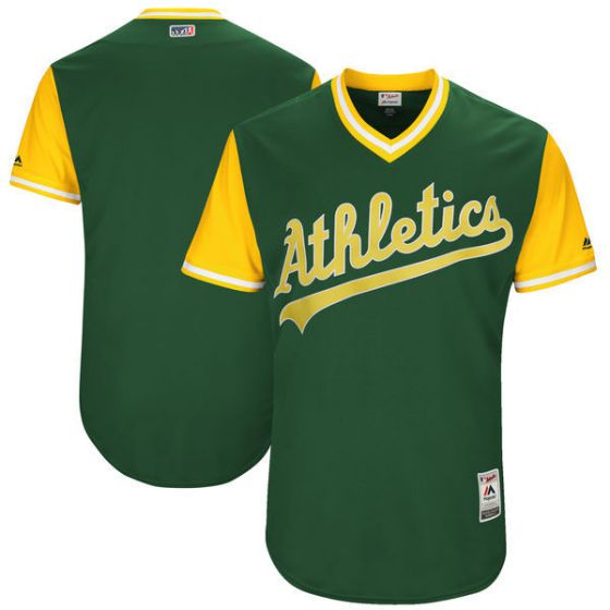 Men Oakland Athletics Blank Green New Rush Limited MLB Jerseys