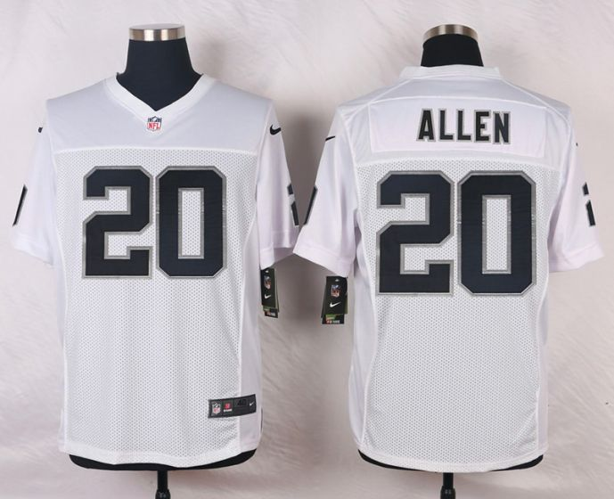 Men Oakland Raiders 20 Nate Allen White Elite Nike NFL Jerseys