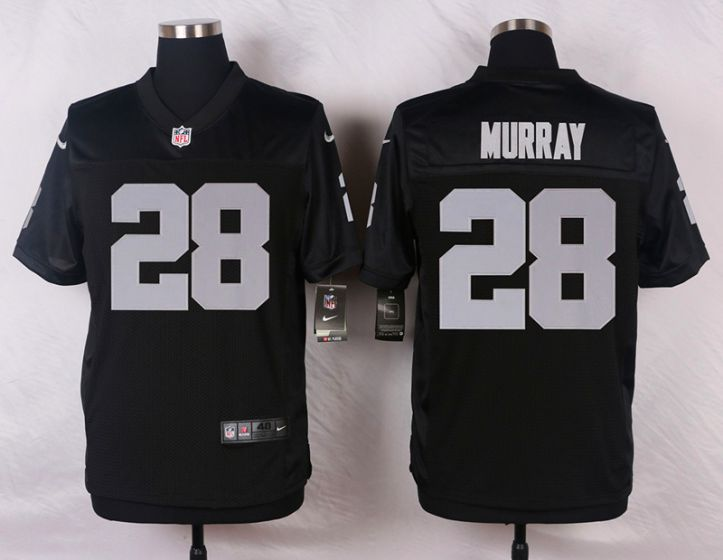 Men Oakland Raiders 28 Latavius Murray Black Elite Nike NFL Jerseys