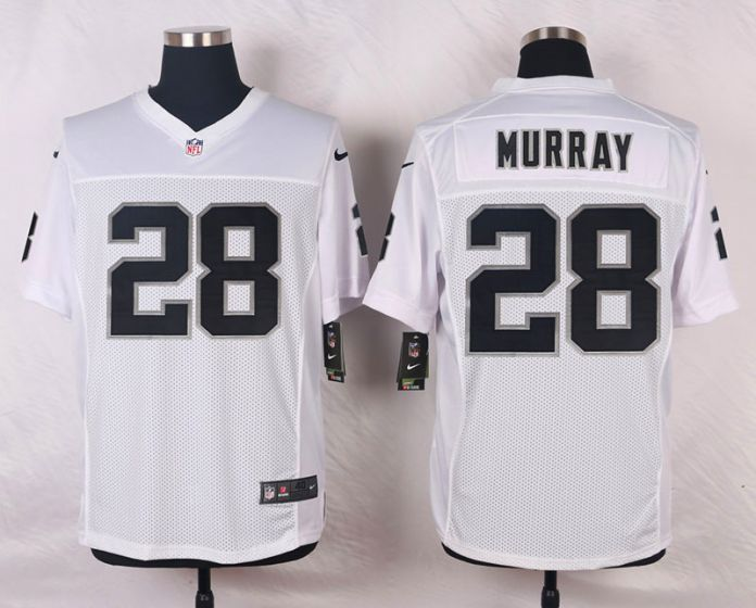Men Oakland Raiders 28 Latavius Murray White Elite Nike NFL Jerseys