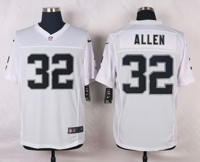 Men Oakland Raiders 32 Marcus Allen White Elite Nike NFL Jerseys