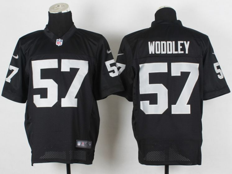 Men Oakland Raiders 57 Woddley Black Elite Nike NFL Jerseys